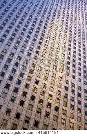 Detail Of Buildings At Midtown New York City