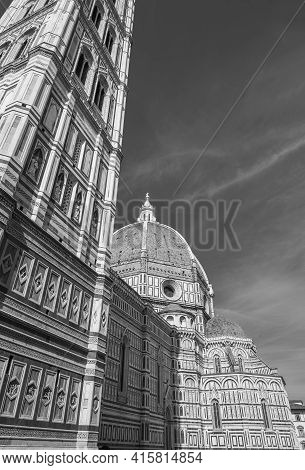 Exterior Of Cathedral Santa Maria Del Fiore In Florence, Italy