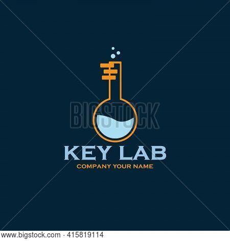 Key Lab Design Logo Vector. Illustration Key Lab Vector