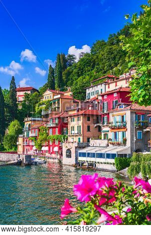 Varenna, Lake Como - Holidays In Italy View Of The Most Beautiful Lake In Italy, Lago Di Como, Lomba