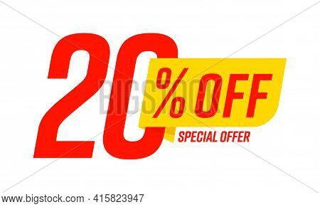 Special Offer 20 Percent Off Price Cut Out Shopping Template