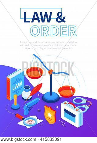 Law And Order - Modern Isometric Web Banner