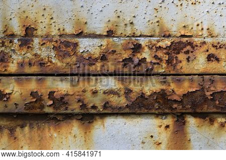 Old Iron Sheet. Old Cracked Paint. Rusty Metal Surface. Rusty Steel. Vintage Style. Rusty Iron. For