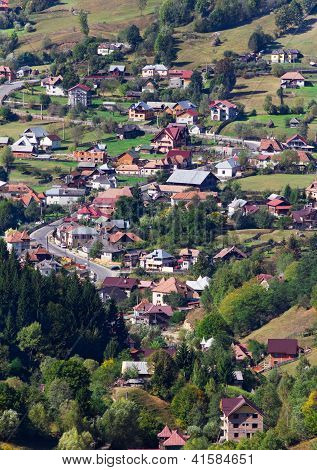 Traditional Village From Romania