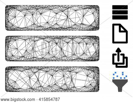Vector Wire Frame Database. Geometric Wire Frame Flat Network Made From Database Icon, Designed With