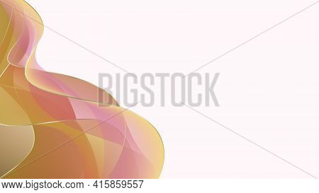 Background Wave Abstract Design. Gradient Background, Orange Abstract Waves, Vector Blurred Soft Ble