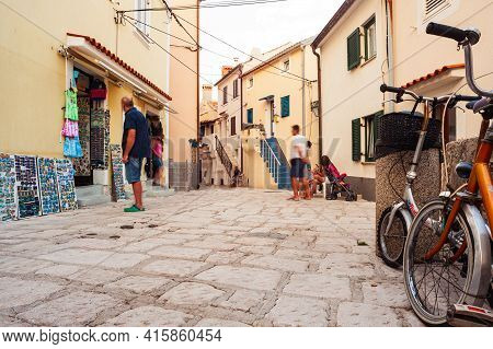 Baska, Croatia - July, 23: View Of The Street Of The Town On July 23, 2020