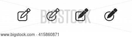 Edit Icon Vector Pencil Tool Symbol Editable Document Symbol Concept Illustration.