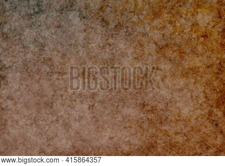 Brown Orange Black Beige Antique Old Background With Blur, Gradient And Watercolor Texture. Space Fo