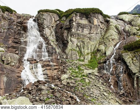 Waterfall Skok Or Vodopad Skok In High Tatras Mountains, Slovakia