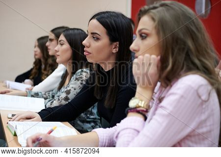 Students Gruop In the uni Amphitheather