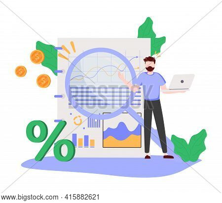 Business Transparency As Honest And Clean Company Sign Tiny Persons Concept. Data Information Sharin