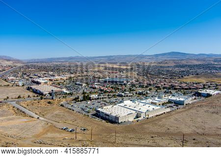 Sparks, Nevada Usa - April 6, 2021: Aerial View Of The Spanish Springs Area Located Just North Of Sp