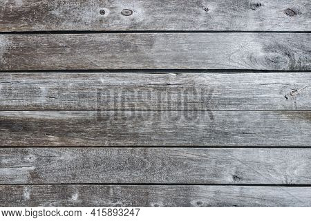 Gray Wood Texture. Grey Wooden Wall Background. Rustic Desks With Knots Pattern. Countryside Archite