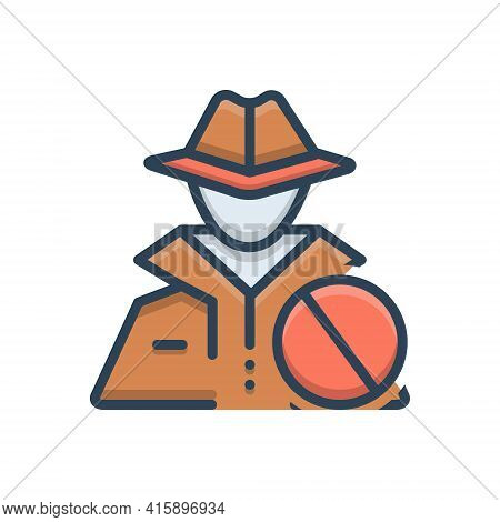Color Illustration Icon For Anti-theft Anti Theft  Protection Hacker