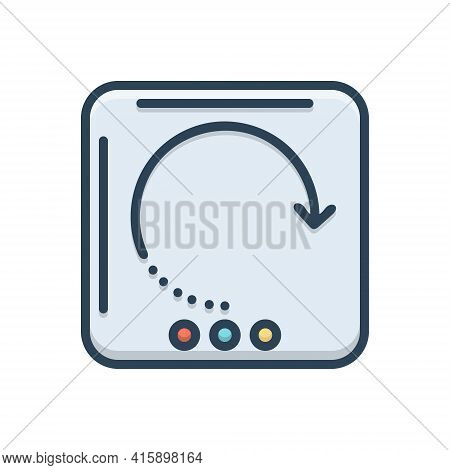 Color Illustration Icon For Reload Refresh Renew Repeat Rotate Update Retry Reset