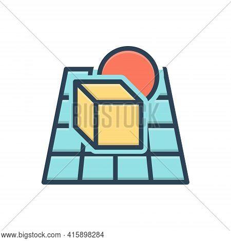 Color Illustration Icon For Alpha-blending  Alpha Blending