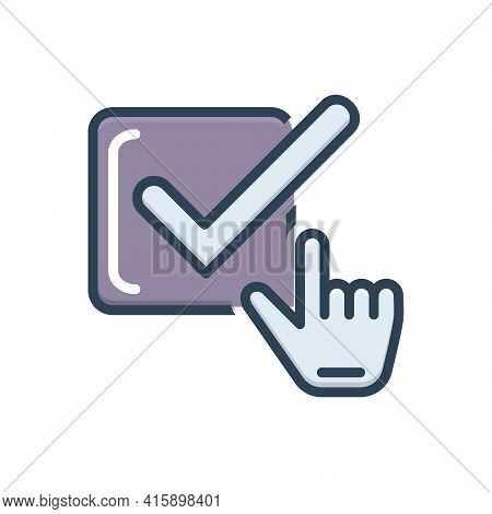Color Illustration Icon For Check-box Check Box Approve Checklist Confirmation Approval