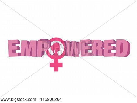 Women Resist Symbol. Woman Rights Vector Illustration. Isolated Background.