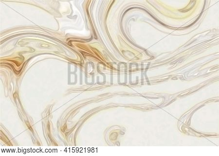 Abstract White Background Liquid Wave Or Wavy Folds Of White Silk, Satin Texture