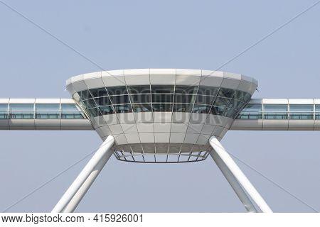 Shanghai, China, April 2: Detail Of Top Restaurant At The Shanghai Airport In Pudong. China