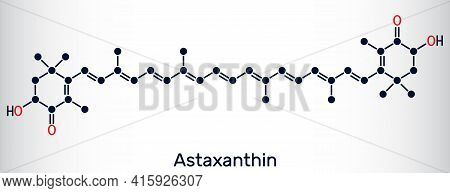 Astaxanthin Is A Keto-carotenoid. It Belongs To Class Of Chemical Terpenes. Skeletal Chemical Formul