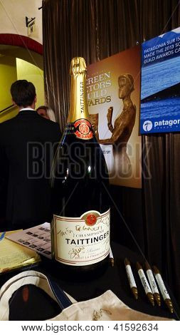 LOS ANGELES - JAN 27: Atmosphere, Signed Champagne Bottle at the 19th Annual Screen Actors Guild Awards held at The Shrine Auditorium on January 27, 2013 in Los Angeles, California