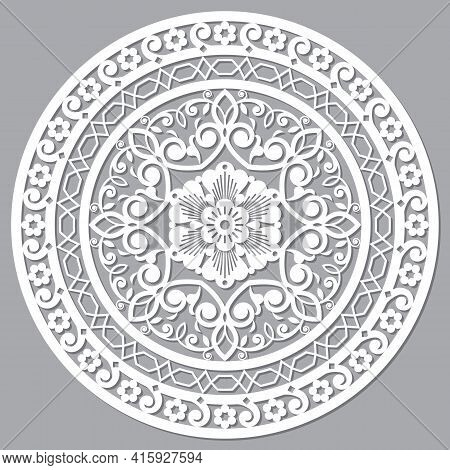 Moroccan Openwork Mandala Vector Design Inspired By The Boho Arabic Carved Wood Wall Art Patterns Fr