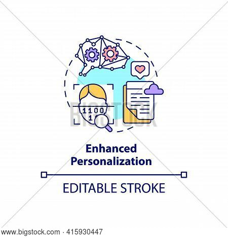 Enhanced Personalization Concept Icon. Software Customization. User Experience. Digital Marketing. S