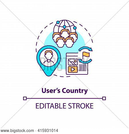 User Country Concept Icon. Audience Segmentation. Target Marketing. Business Networking. Smart Conte