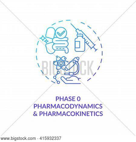 Pharmacodynamics And Pharmacokinetics Concept Icon. Clinical Trials Phase 0 Idea Thin Line Illustrat