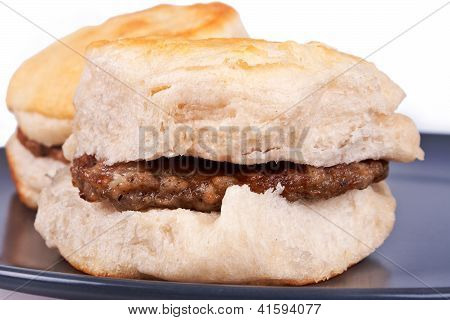 Biscuits And Sausage