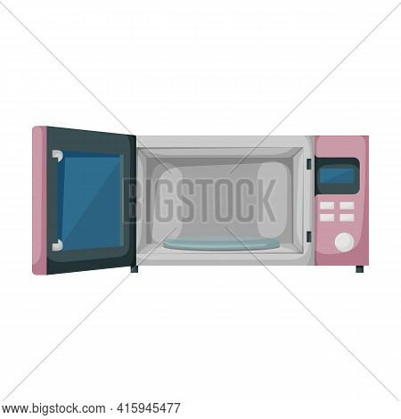 Microwave Vector Icon.cartoon Vector Icon Isolated On White Background Microwave.