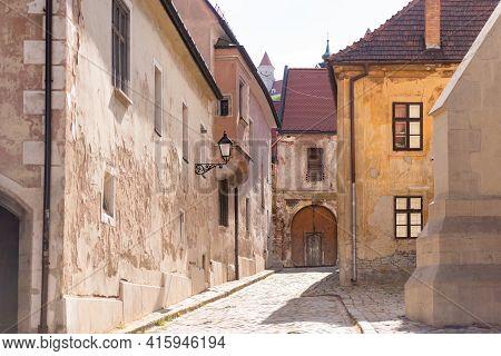 Bratislava. Slovakia. Spring 2019. Bratislava In The Spring Of 2020. Street In The Historical Center