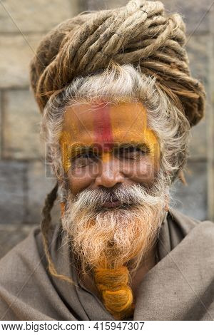 Sadhu Smiling In Kathmandu