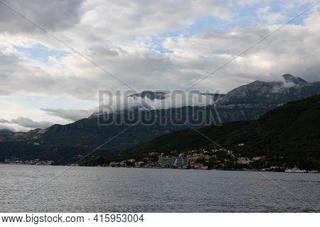 Dawn Over The Bay Of Kotor, Adriatic Sea, Montenegro
