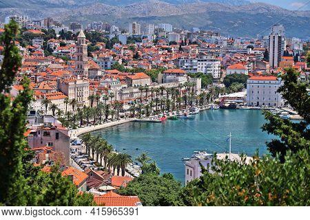 Split, Croatia. Landmarks Of Croatia. Unesco World Heritage Site Landmark.