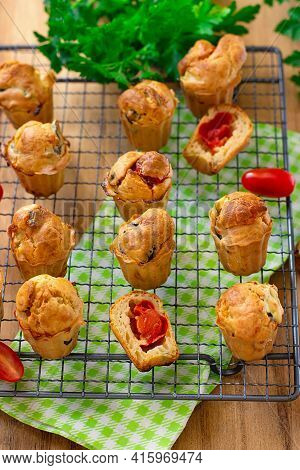 Savoury Vegetable Muffins With Cherry Tomatoes And Cheese
