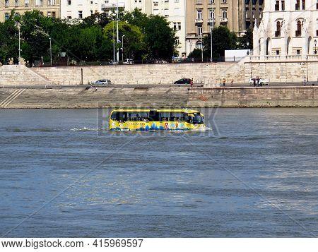 Budapest, Hungary - 12 Jun 2011: The Amphibious In Budapest, Hungary
