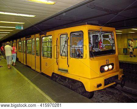 Budapest, Hungary - 13 Jun 2011: The Subway In Budapest, Hungary