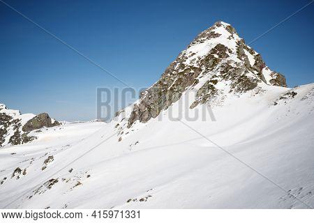 Monks Peak in the Pyrenees, Aspe Valley in France