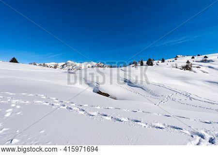 Lessinia High Plateau (altopiano Della Lessinia) And Carega Mountain (monte Carega) Also Called The