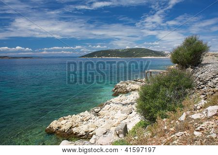 View from the island Goli otok Croatia poster