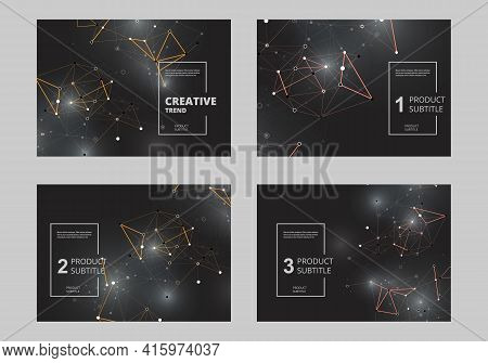 Abstract Polygonal For Concept Design. Geometric Background. Vector Illustration Layout Template Des