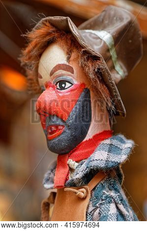 Lyon, France, April 6, 2021 : Guignol Theater Is A French Puppet Show Created In Lyon By Laurent Mou