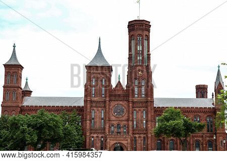 Washington, Dc-june 14,2018:view Of Arts And Industries Building Of The Smithsonian Museums Is Famou