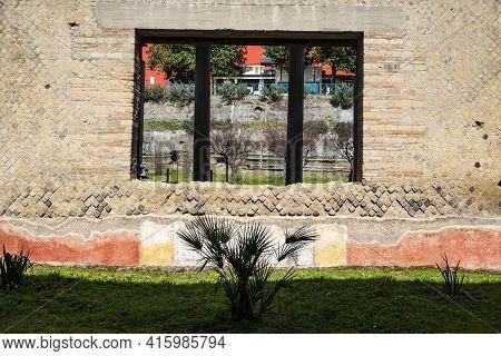Oplontis Torre Annunziata Italy, Ancient Ruins Of Roman Poppea's Villa Destroyed By Vesuvius Eruptio