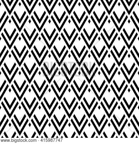 Abstract Seamless Geometric Pattern And Texture. Vector Art.