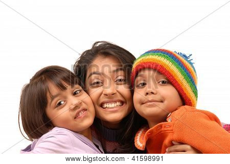 Loving Indian Brother And Sisters