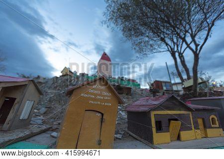 Valecito, Argentina, Dec 15: The Outdoors View Of The Deceased Correa In Spanish Difunta Correa Pilg